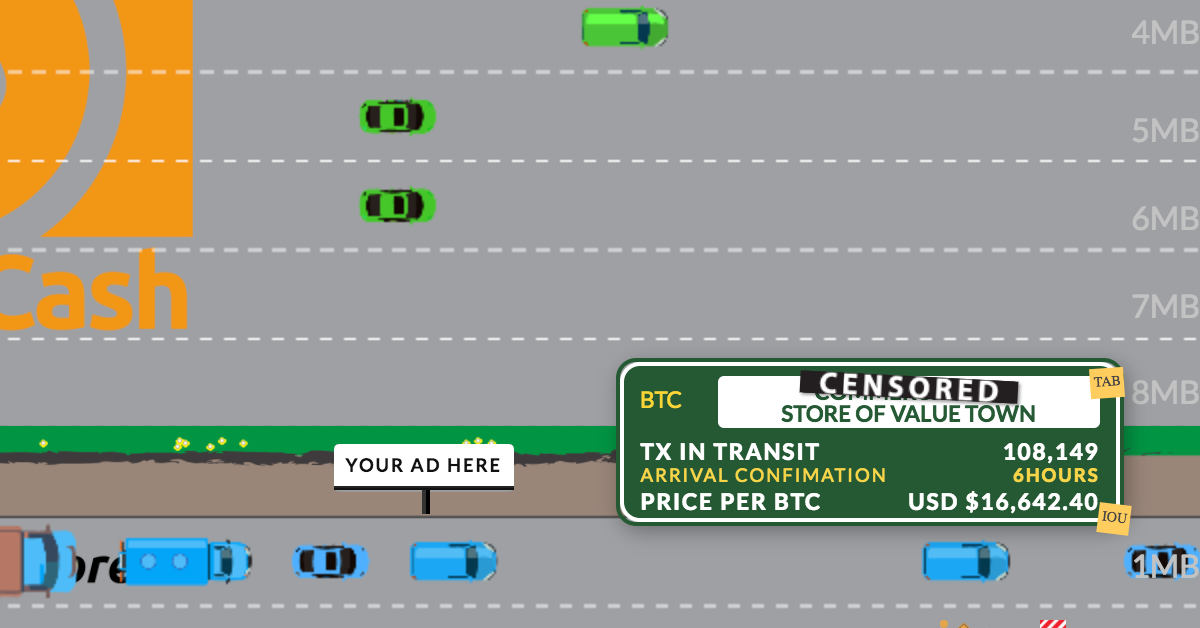 TX Highway - Live Bitcoin Cash vs Bitcoin Core Transaction